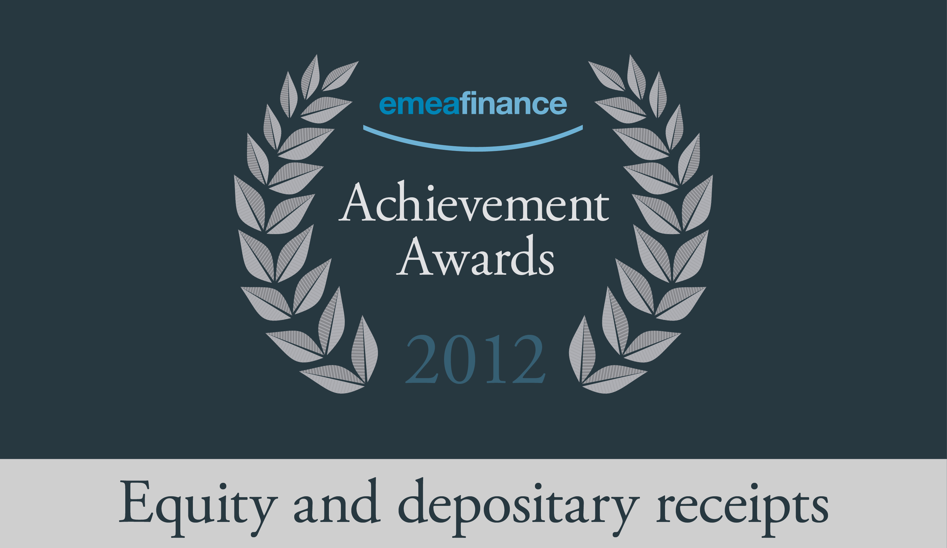 Achievement Awards 2012: Equity markets and depositary receipts