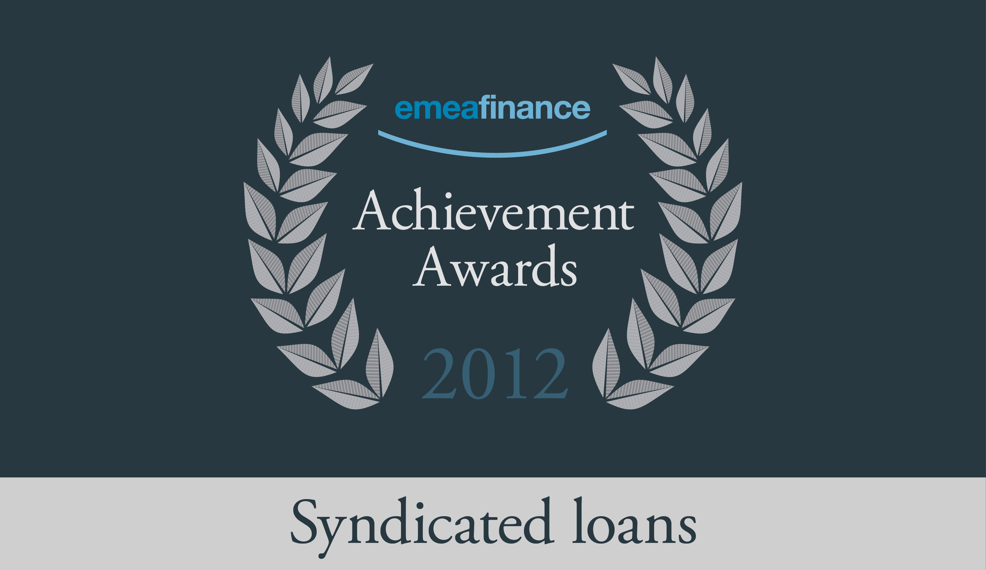 Achievement Awards 2012: Syndicated loans